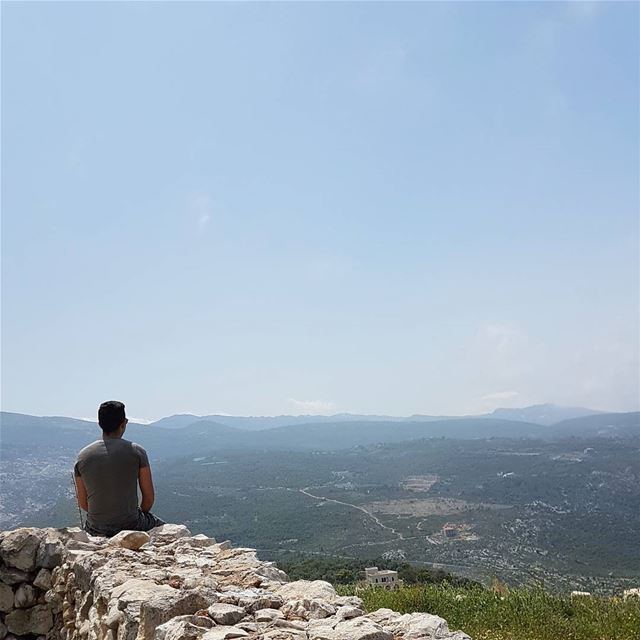 The hardest prison to escape is in your mind ⛰By @catkhoury mountains ... (Rechdibbîne, Liban-Nord, Lebanon)