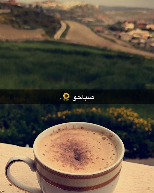 Good morning people it's Friday 😍 nature n nescafé ☕️... (Jnoub - Sour)
