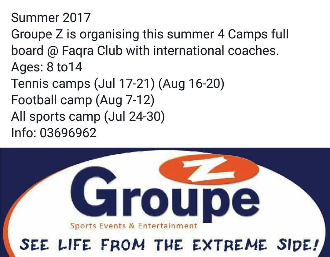 Groupe Z Summer camps 2017 groupez summer camps camping faqraclub ... (Faqra Club)