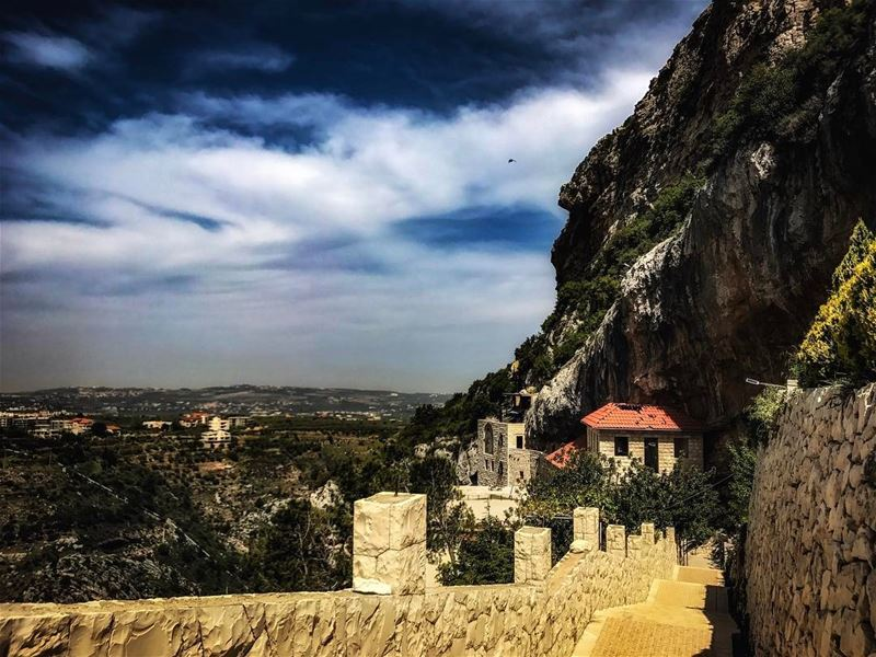 Love is a canvas furnished by nature and embroidered by imagination 💙 ... (Hamatoura Monastery)