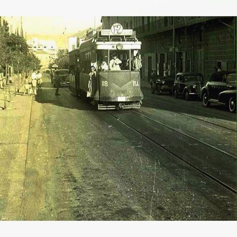 TramwayBeirut Bliss Street in 1951 .
