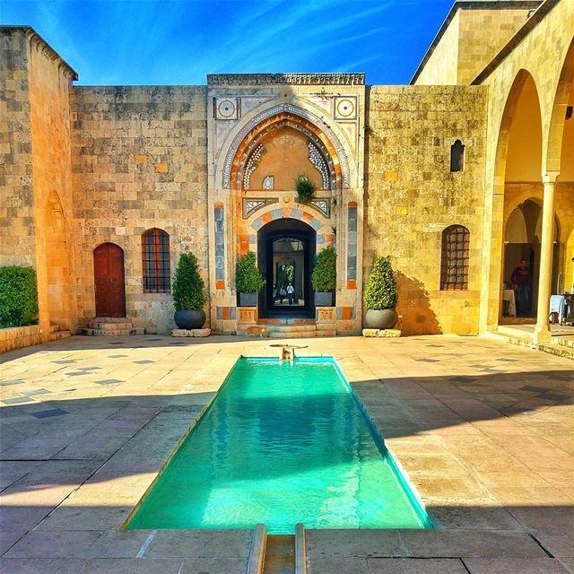 Amazing Palace ❤ lebanon nature naturelovers natureporn landscape ... (Mir Amin Palace)