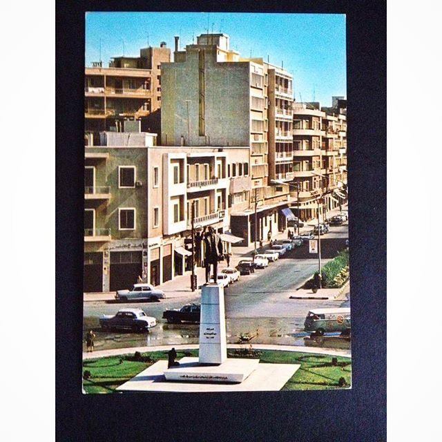 Tripoli, Abdel Hamid Karameh Statue in 1974 .