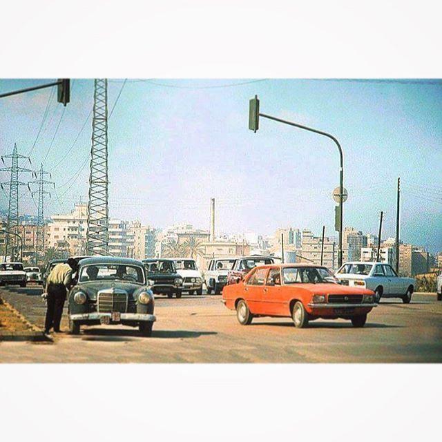 The Road From Antelias to Jall El-Dib in 1974 .