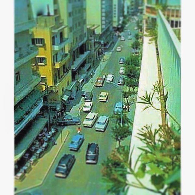 شارع الحمرا بيروت عام ١٩٧٢ ،