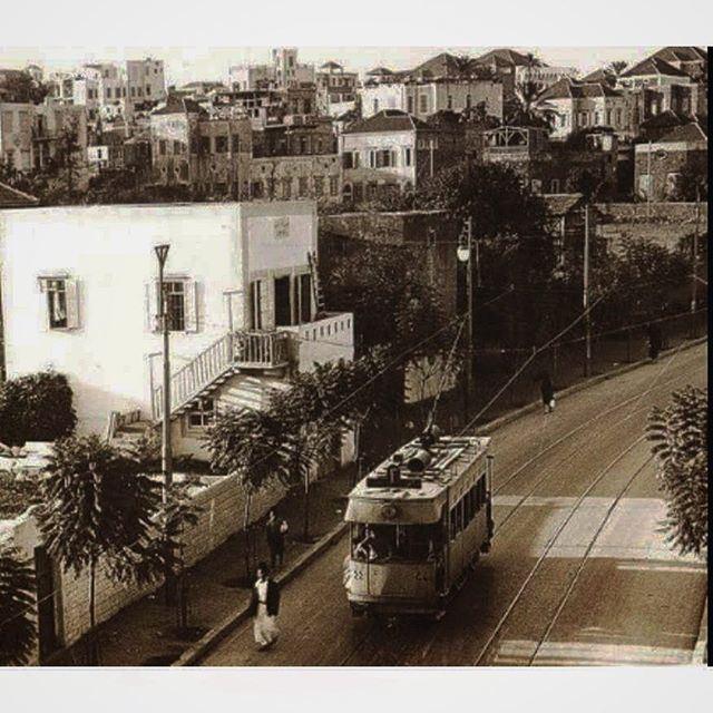ترمواي البسطة بيروت عام ١٩٢٠ ،