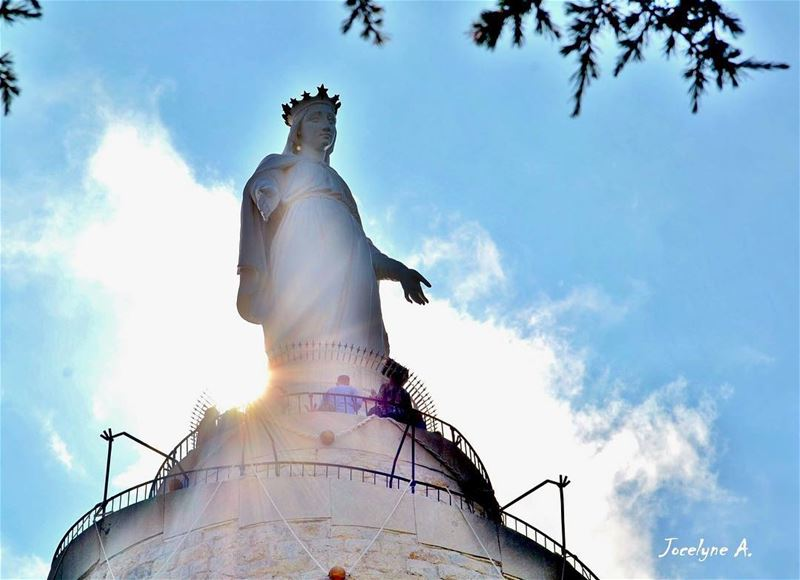 💓Everything I am you helped me to be💓 mother ourmother ourlady love... (The Lady of Lebanon - Harissa)