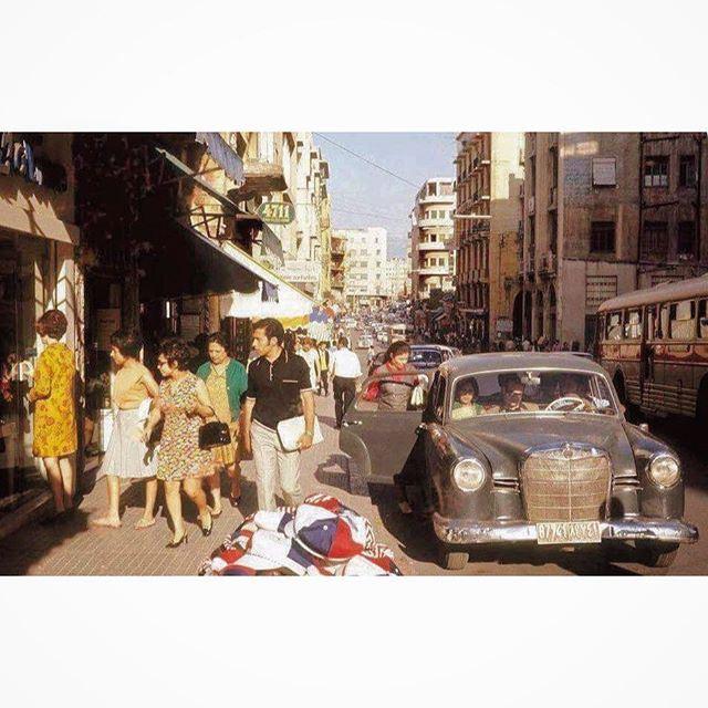 شارع ويغان بيروت عام ١٩٦٧ ،