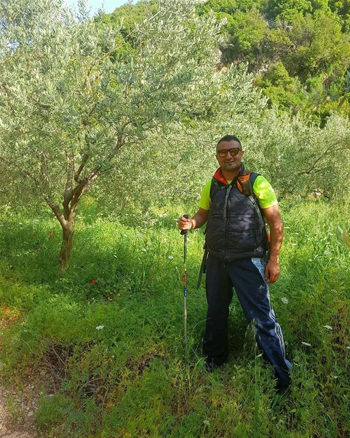 Blessed 🙏 hiking friends spring nature mountains lebanon colors ... (Mar Youssef - Jrabta (Sainte Rafka))
