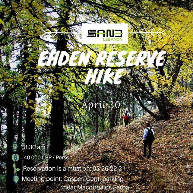 Hiking Reserve Ehden .... This Sunday 30 April .... don't miss it 🌾🌲🌱🍃 (La Reserve Horsh Ehden)