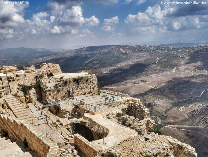 ".• "" A strategic view from Beaufort castle ""• Location: Nabatiyeh kaza |..."