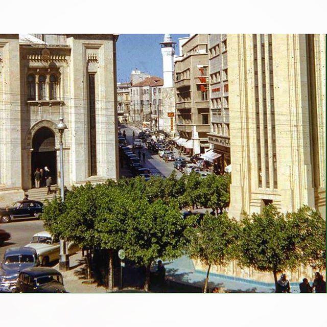 صباح الخير من بيروت ساحة النجمة عام ١٩٥٦ ،