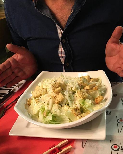 lebanon sidon saida señorsuchi restaurant cesarsalad salad ... (Señor Sushi)
