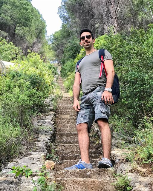 It is not enough to stare up the steps - we must step up the stairs.🌿☘🍀... (Kaftoûn, Liban-Nord, Lebanon)