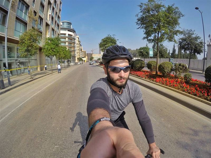 Am doing this for me ✌ sunday training ride bike biking mtb cycling... (Downtown Beirut)
