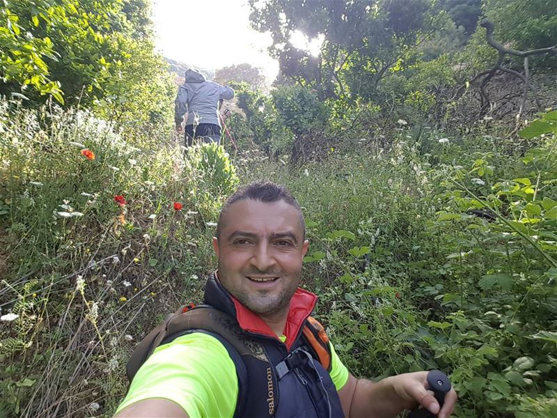 From Batroun to Jrebta hiking friends spring mountains lebanon ... (St Rafqa-Jrebta)