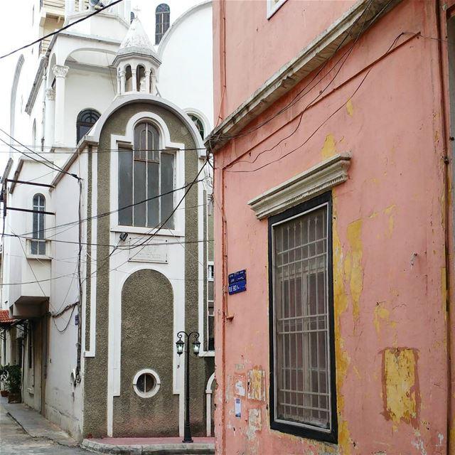 Narrow street to church ⛪ (Mar mikheal)