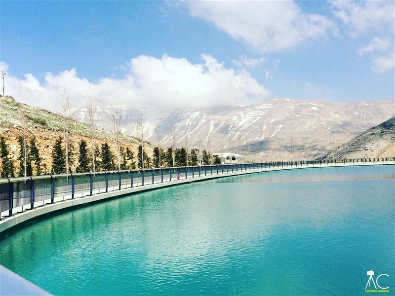 zaarourclub  metn  lebanon  bluesky  lake  mountains ... (Zaarour Club)