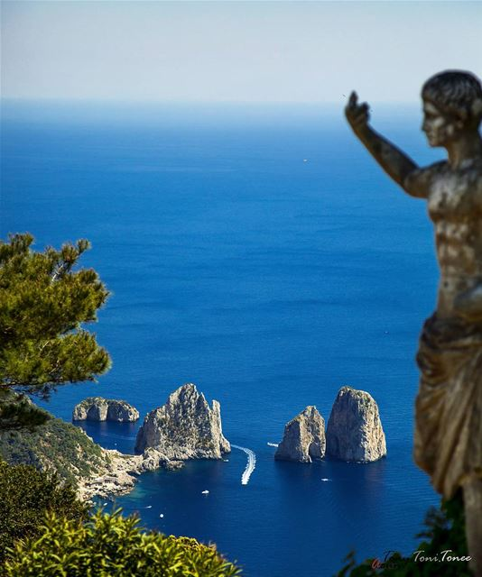 """Twas on the Isle of Capri that I found herBeneath the shade of an old... (Capri, Italy)"