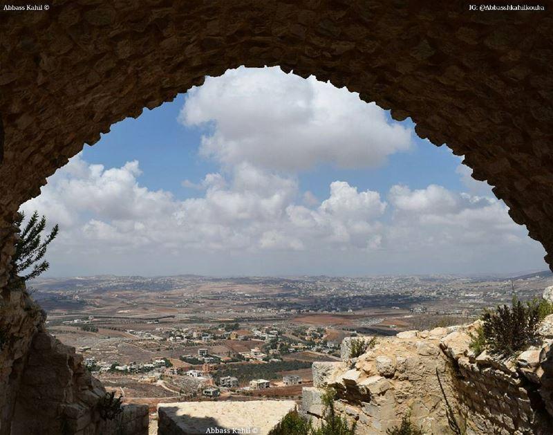 ".• "" A framed view toward @livelovenabatiyeh""• Location: Beaufort castle..."