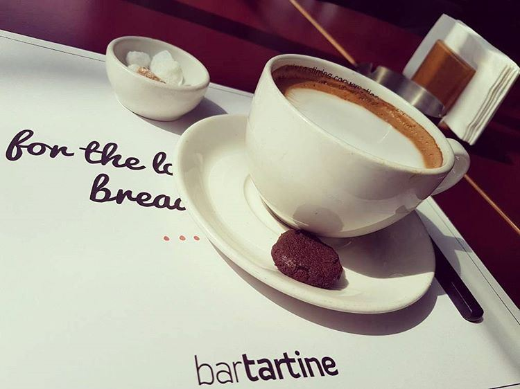 If happiness had a taste it would certainly be similar to that cappuccino... (Bar Tartine Dbayé)