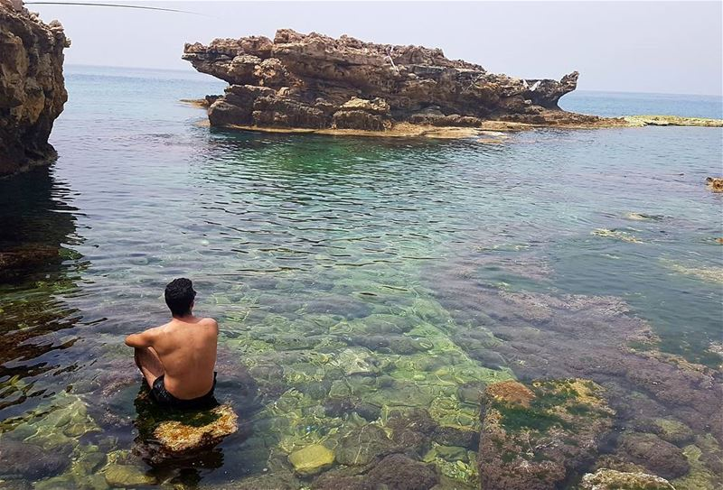 Meet me where the sky touches the sea.🏞 By @lamitta_t livelovebatroun... (Kfarabida Batroun)