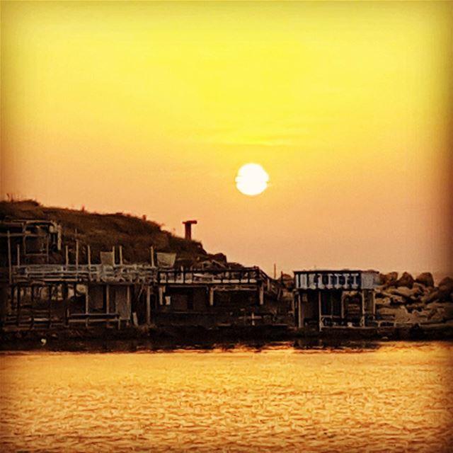 Sunset in anfeh, our little greece ;) tourlebanon tourismlebanon ... (Anfeh, Lebanon)