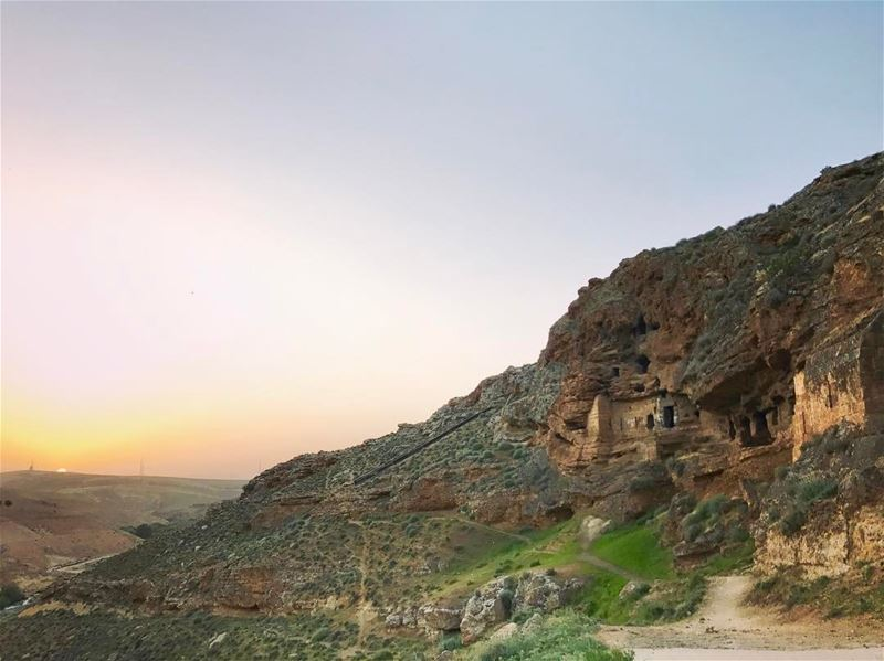 On Labor Day! We remember the first maronite monks who carved the stone to... (Al Assi River)