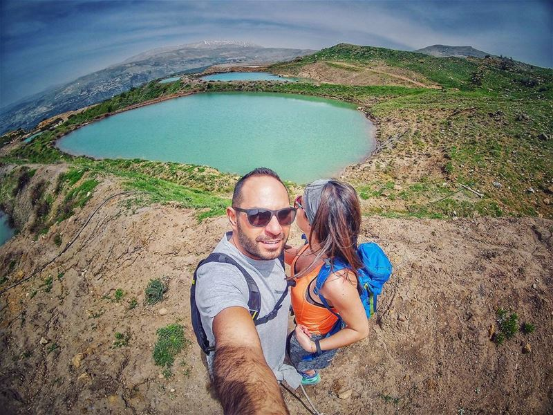 When searchin for  peace 👫 priceless  livelovehiking  couplesgoals... (Falougha, Mont-Liban, Lebanon)