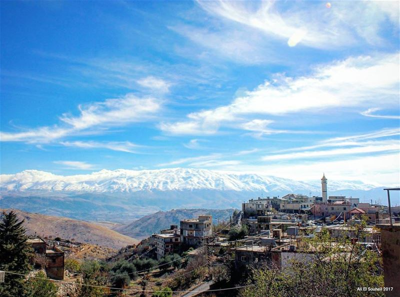 tb  westbekaa  mountains  village  sky  snow  hiking  clouds  spring  ... (West Bekaa)