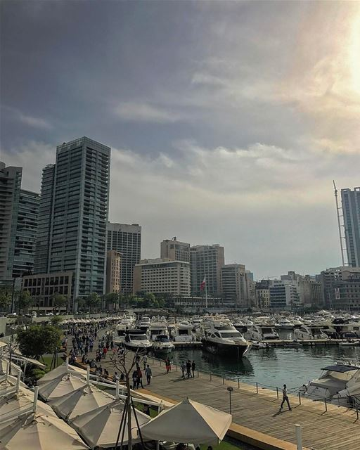 Best place to spend a day off - reposted by @insta_lebanon 😄❤️•@beirutin (Zaitunay Bay)