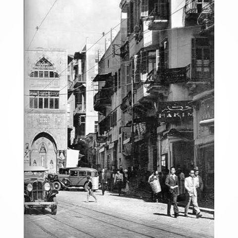 بيروت باب ادريس عام ١٩٢١ ،