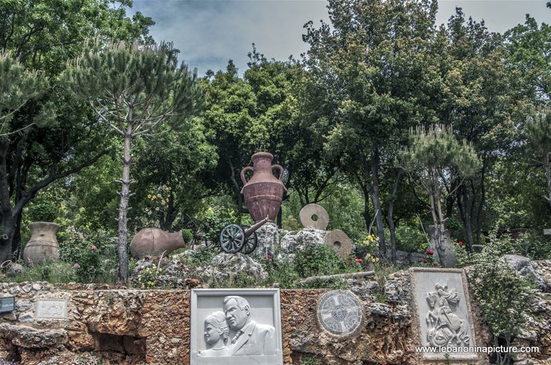 Historical Artifacts and Weapons Near Moussa Castle in Chouf