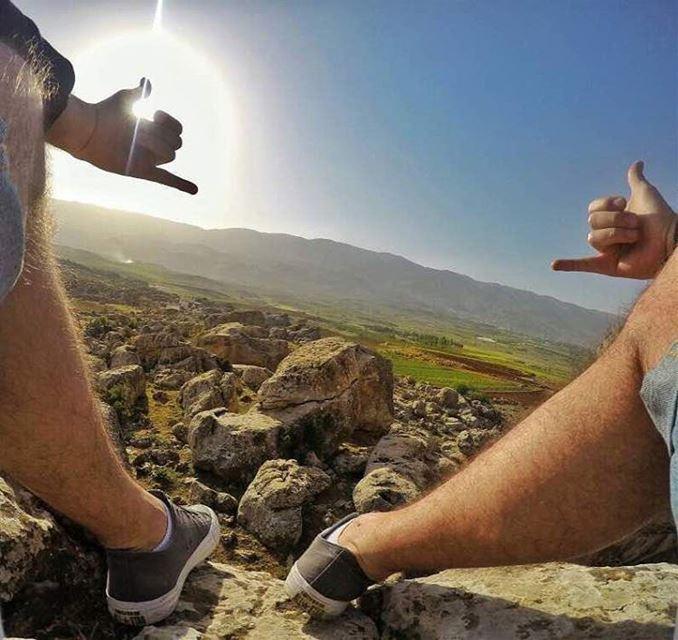 Enjoying the view ✌ lebanon mylebanon proudlylebanese meetlebanon ... (West Bekaa)