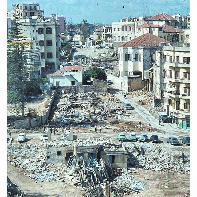 بيروت زقاق البلاط عام ١٩٥٥ ،