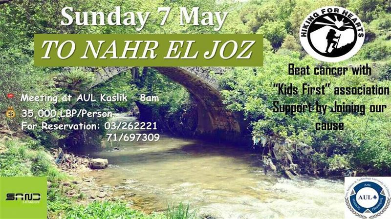 "Support our ""children cancer"" cause by joining SANE event to Nahr El Joz..."