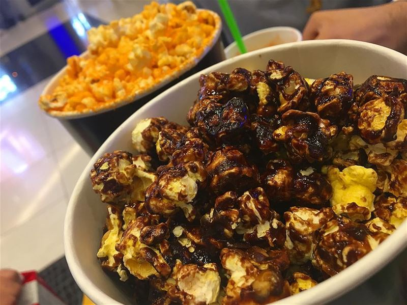 Sweet n Savory. 😎🙈 cheese n chocolate popcorn 🍿🍿 ... weekend... (Beirut, Lebanon)