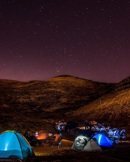 ⛺🌌🚵..... camping adventure motocross motorcycle tents stars night... (Zaarour)