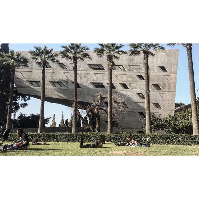 Frozen music......... archdaily architecture architecturelovers... (American University of Beirut (AUB))