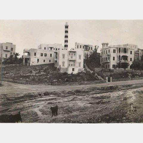 بيروت المنارة عام ١٩٢١ ،