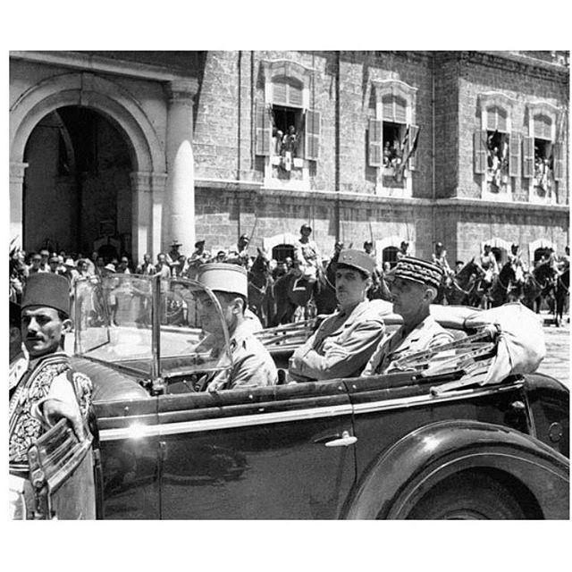 بيروت الجنرال ديغول امام السراي الصغير ،