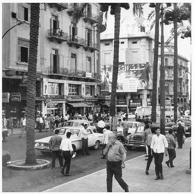 بيروت ساحة الشهداء عام ١٩٦٧ ،