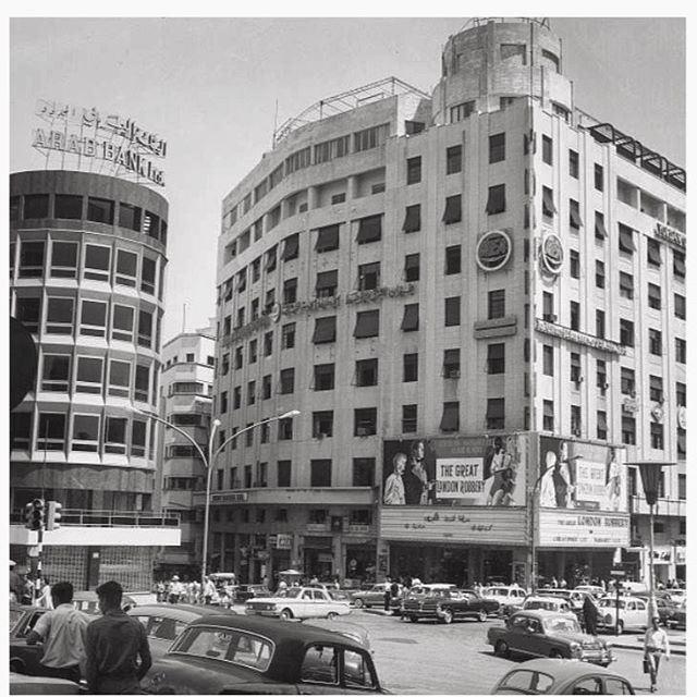 بيروت ساحة رياض الصلح عام ١٩٧١ ،
