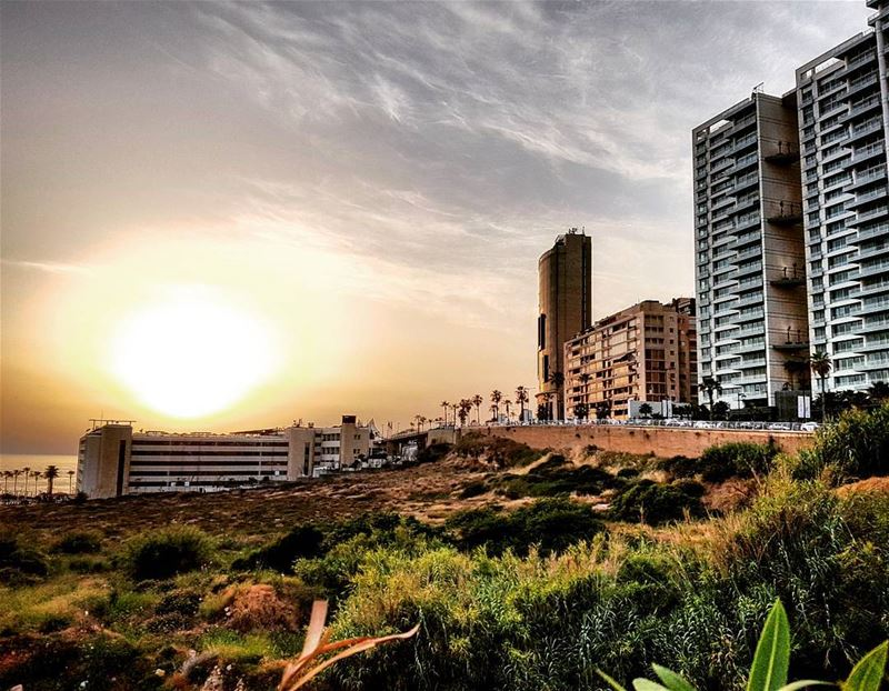 Beirut today's sunset lebanon beirut sunset sun beautiful stunning ... (Beirut, Lebanon)