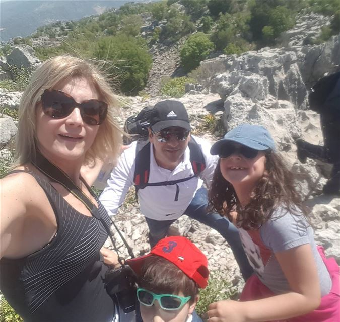 Sunny day...@jabalmoussa jabalmoussa hiking hikingday ... (Salib Jabal Moussa)