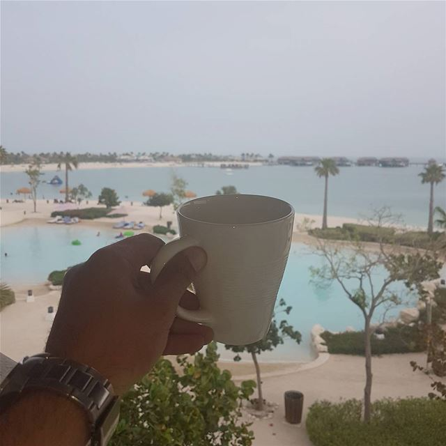 Good morning from @bananaislandresort ☕🏝🌴 صباح_الخير goodmorning ... (Banana Island Resort Doha by Anantara)