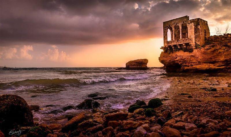 batroun lebanon sea old ruin summer nature sunset snapshot photo... (Batroûn)