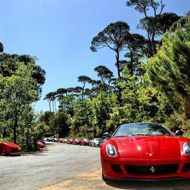 When @FerrariOwnersClubLebanon & @MVAgustaMotor visit LaMaisonDeLaForet! � (La Maison de la Forêt)