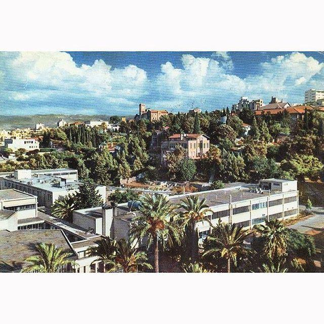 بيروت الجامعة الامريكية عام ١٩٦٧ ،