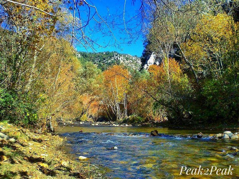 Nature is the art of GOD. 🍁🌎@leczenatti... hiking hike mountains ... (Nahr Adh Dhahab, Mont-Liban, Lebanon)